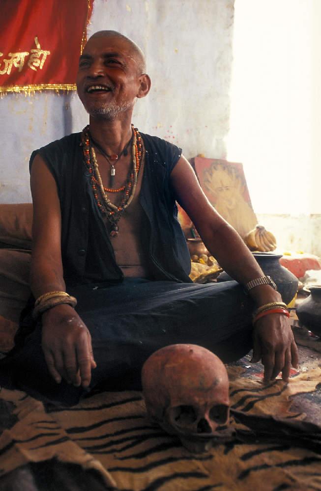 Agori are the most radical of all ascetics. They live at cemeteries and even consume human meat in some rituals. They do it to test if they can keep the clean picture of God even while performing the most disgusting things.