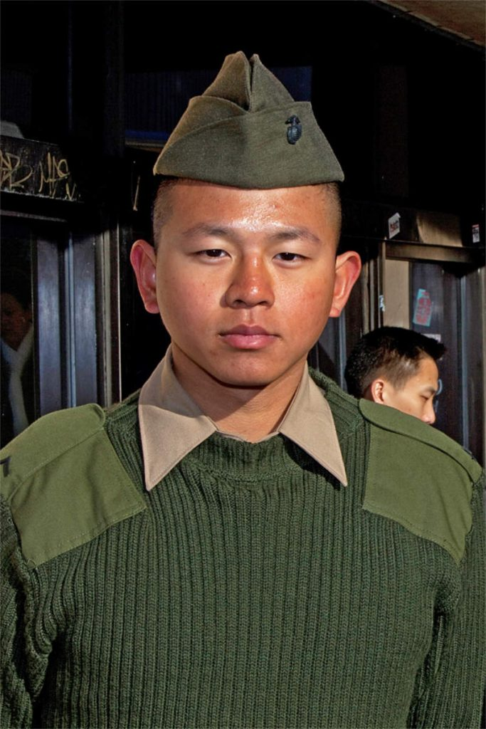 Dit Wang, 19, soldier, originally from Taiwan, Queens