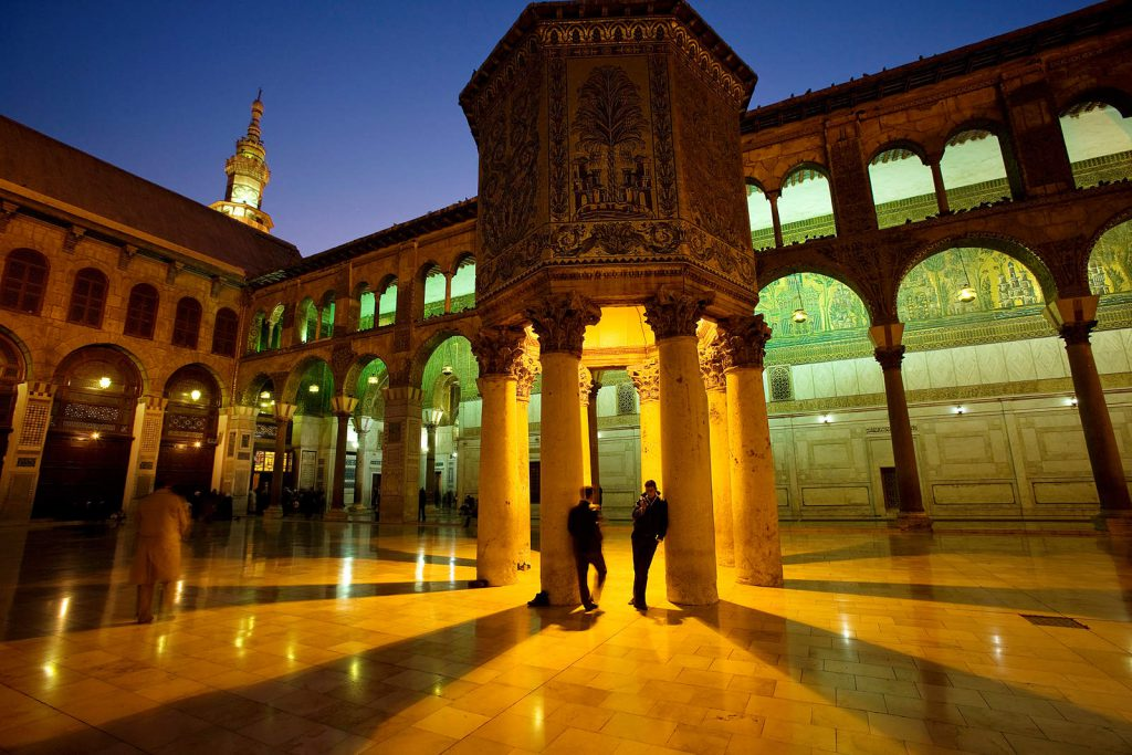 Umayyad mosque - one of the most important mosques in the Muslim world