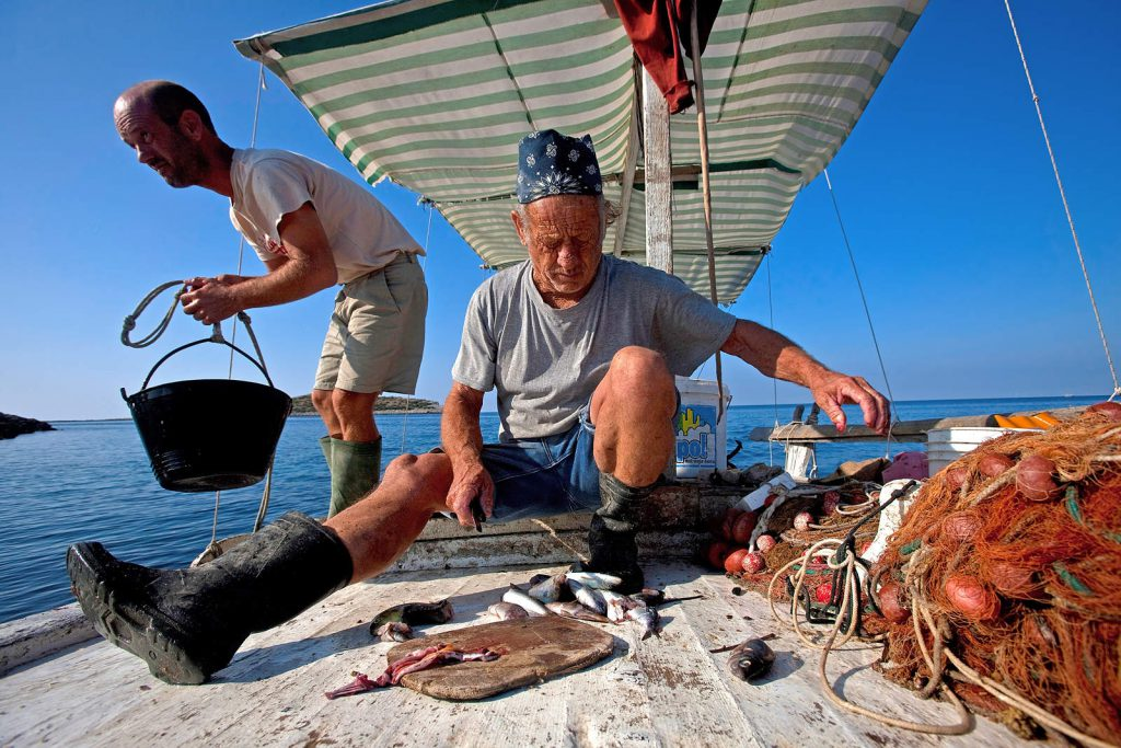 Locals complain that there are not many fish remaining in the sea, as a result of the irresponsible fishing industry.