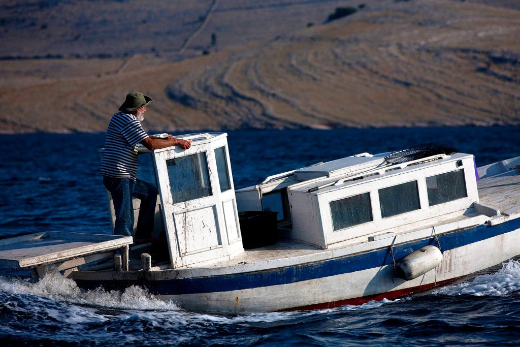 Small boats are a second home for the inhabitants of Kornati. Elders still remember the times when they had to use sails to reach the mainland.