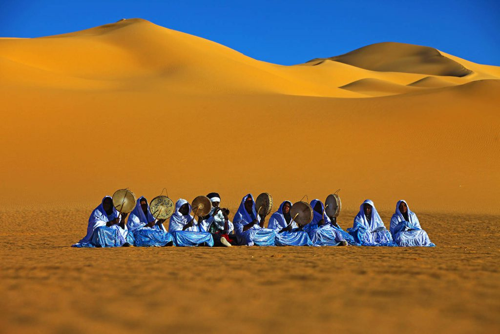 Tuareg festival in the desert
