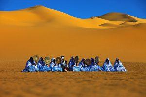 Tuareg festival in the desert