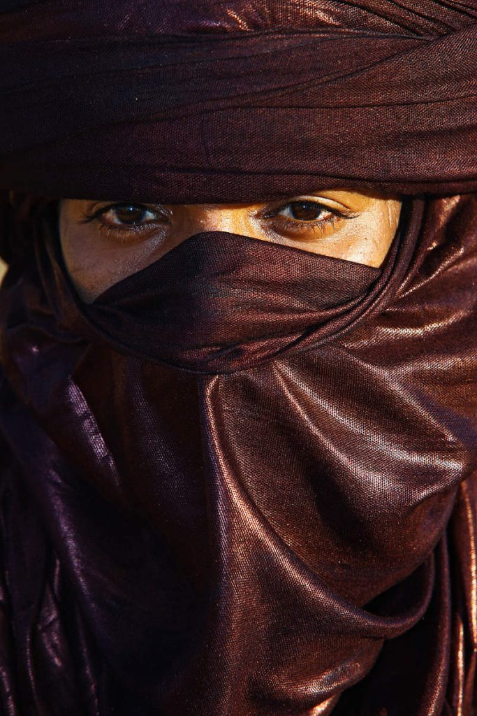 The Tuareg are people who live in the Sahara. As of recently they have abandoned their nomadic way of life and settled in towns.