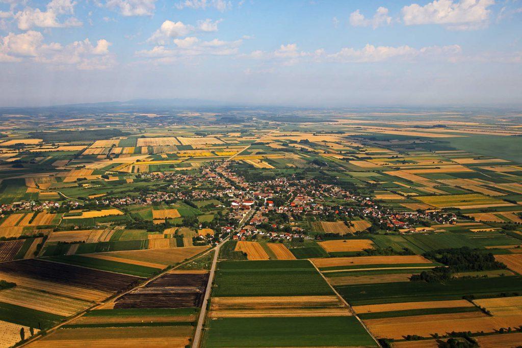 Gorjani su tipično slavonsko selo, smješteno usred ravnice obradivih polja