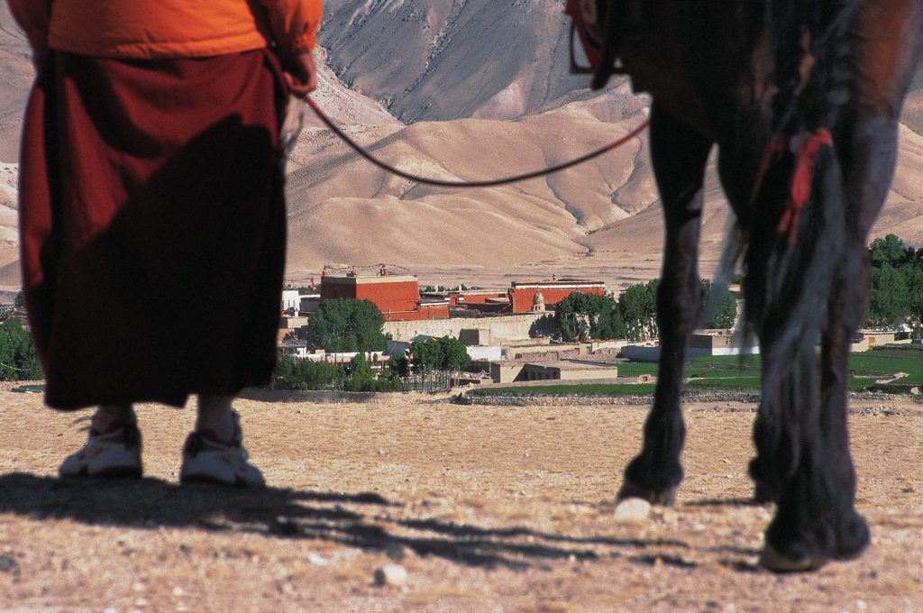 For centuries, Lobas have been traveling through Mustang by foot or on horses. The capital of their kingdom is Lo Mantang, a medieval fortified city.