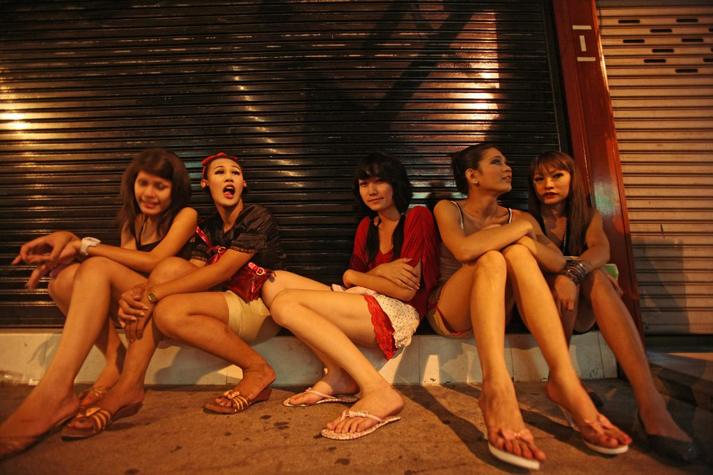 New girls on the street. One third of prostitutes are minors.