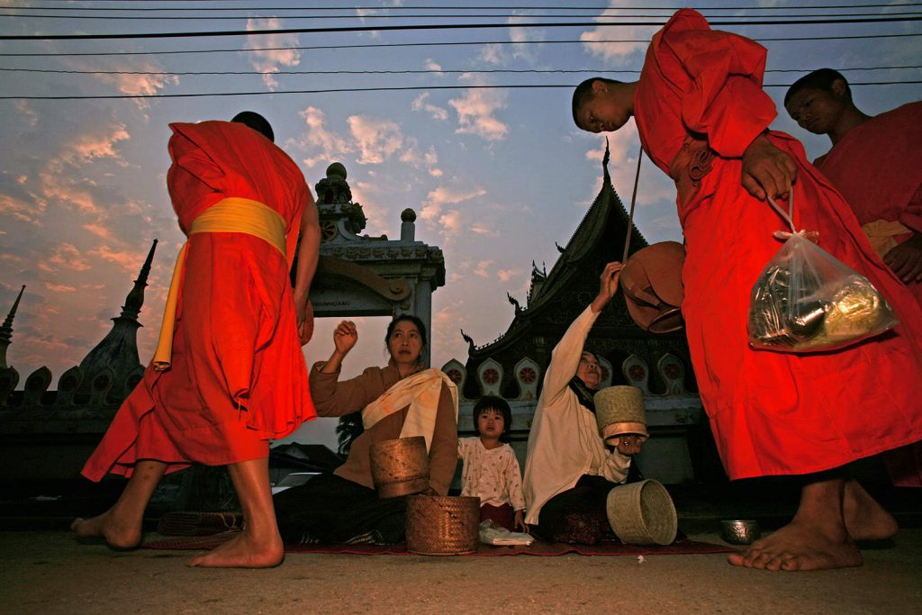 Every tenth inhabitant of that town is a monk and lives a simple and spiritual life in a temple.