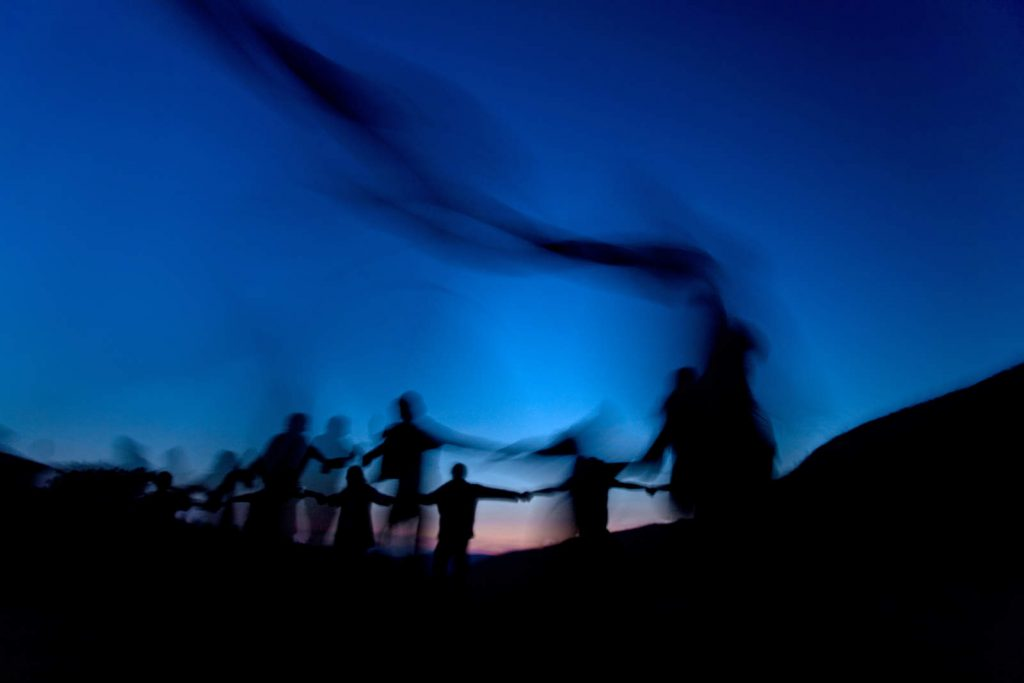 The peak of every Rainbow gathering is the night of the full moon when a special celebration is held.