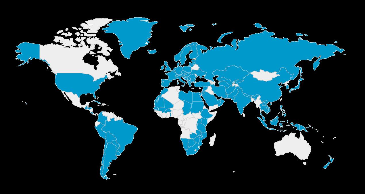Karta zemalja koje je posjetio Davor Rostuhar